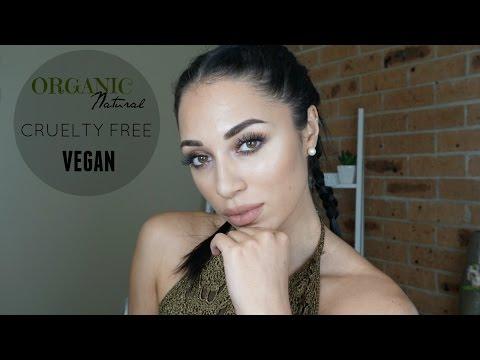 ORGANIC | NATURAL | CRUELTY FREE | VEGAN makeup tutorial