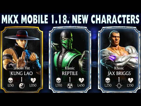 MKX Mobile 1.18 Update. New Characters Gameplay + Review. Klassic Reptile is A BEAST!