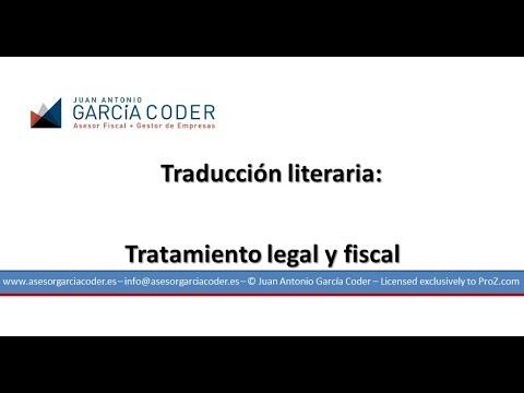 Traducción literaria: tratamiento fiscal y legal