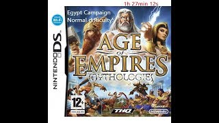 Age of Empires Mythology DS speedrun Egypt campaign in 1:27:12
