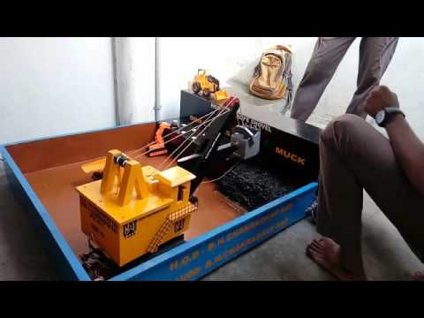 electric rope shovel project done by govt polytechnic narsipatnam mining students