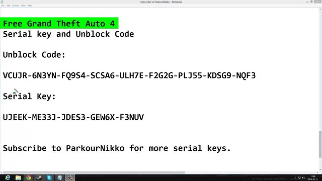 gta iv unlock code and serial keygen