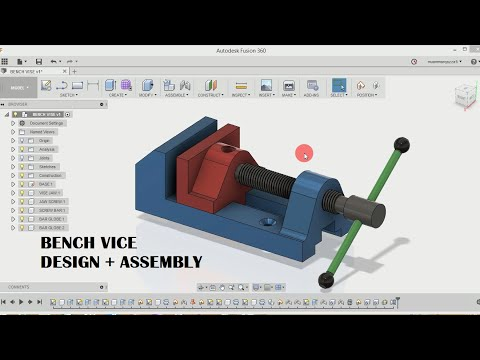 Bench vice | design and assembly | fusion 360 tutorials