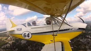 fk12 comet biplane flight demo