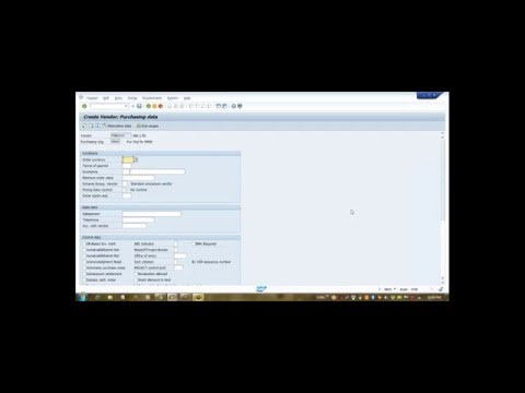 SAP How To Create Vendor Master Domestic/ Import Video