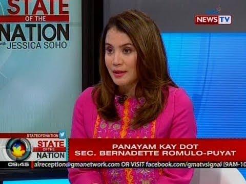 SONA: Panayam kay DOT Secretary Bernadette Romulo-Puyat