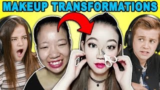 Download Video Kids React To Viral Asian Makeup Transformations Compilation MP3 3GP MP4
