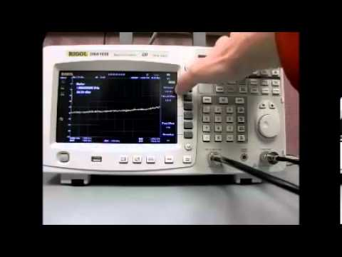 RIGOL DSA1030A-TG 3GHz Spectrum Analyser -- How to set up a tracking generator.
