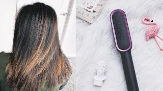 TRYING A CERAMIC STRAIGHTENING COMB? BEAUTIFUL RESULTS + GIVEAWAY!