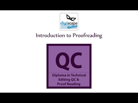 Technical Editing Sample Tutorial: Introduction to Proofreading