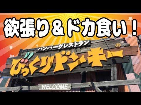 【びっくりドンキー】欲張りハンバーグ&ドカ食いメニューが最高だった!