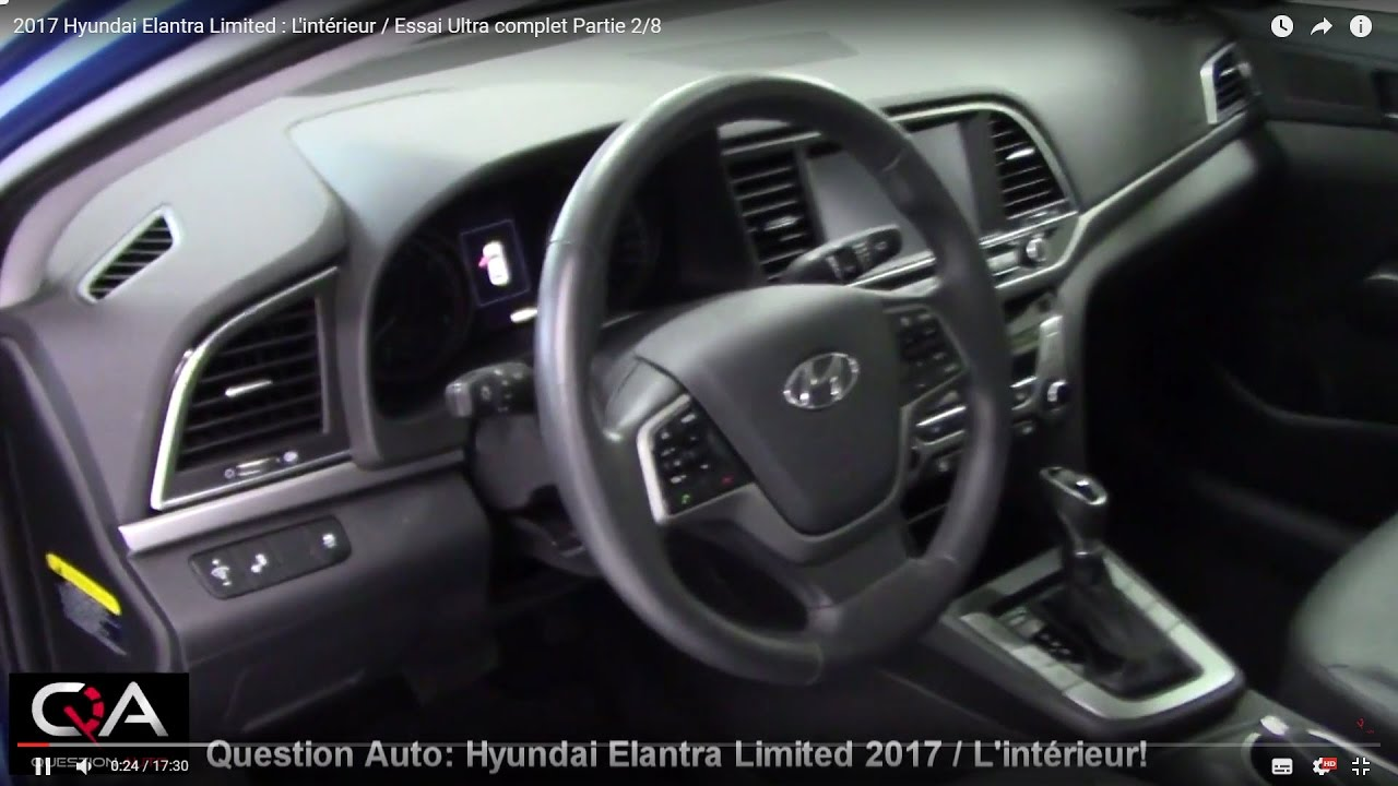 2017 hyundai elantra limited l 39 int rieur essai ultra complet partie 2 8 youtube. Black Bedroom Furniture Sets. Home Design Ideas