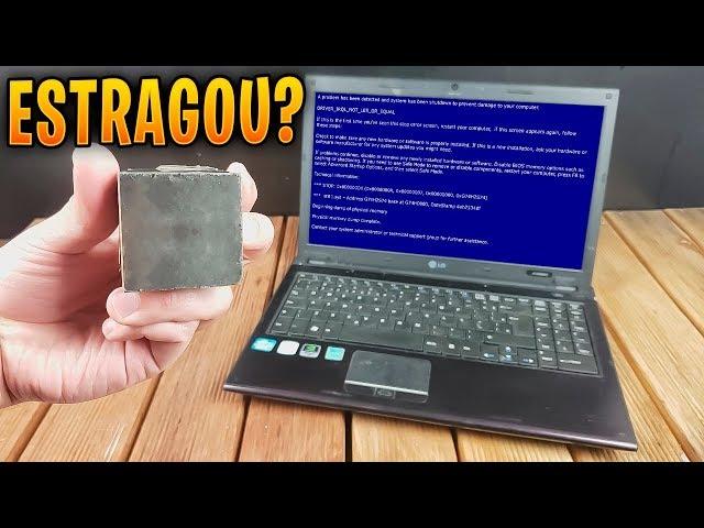 NUNCA COLOQUE SEU COMPUTADOR PERTO DE UM IMÃ POTENTE, OU ISSO PODE ACONTECER !!