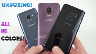 Samsung Galaxy S9 vs S9+ Retail Unboxing (All Colors)