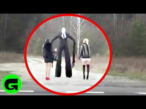 TOP 5 REAL SLENDERMAN  CAUGHT ON CAMERA & SPOTTED IN REAL LIFE!