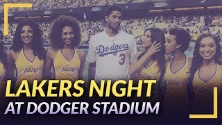 Lakers Night at Dodger Stadium: Josh Hart Throws the First Pitch