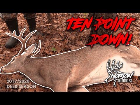 Georgia Deer Hunting, 10 Point Buck Down! | Self Filmed | 2019-2020 Season