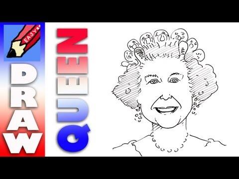 Draw Queen Elizabeth Real Easy Youtube