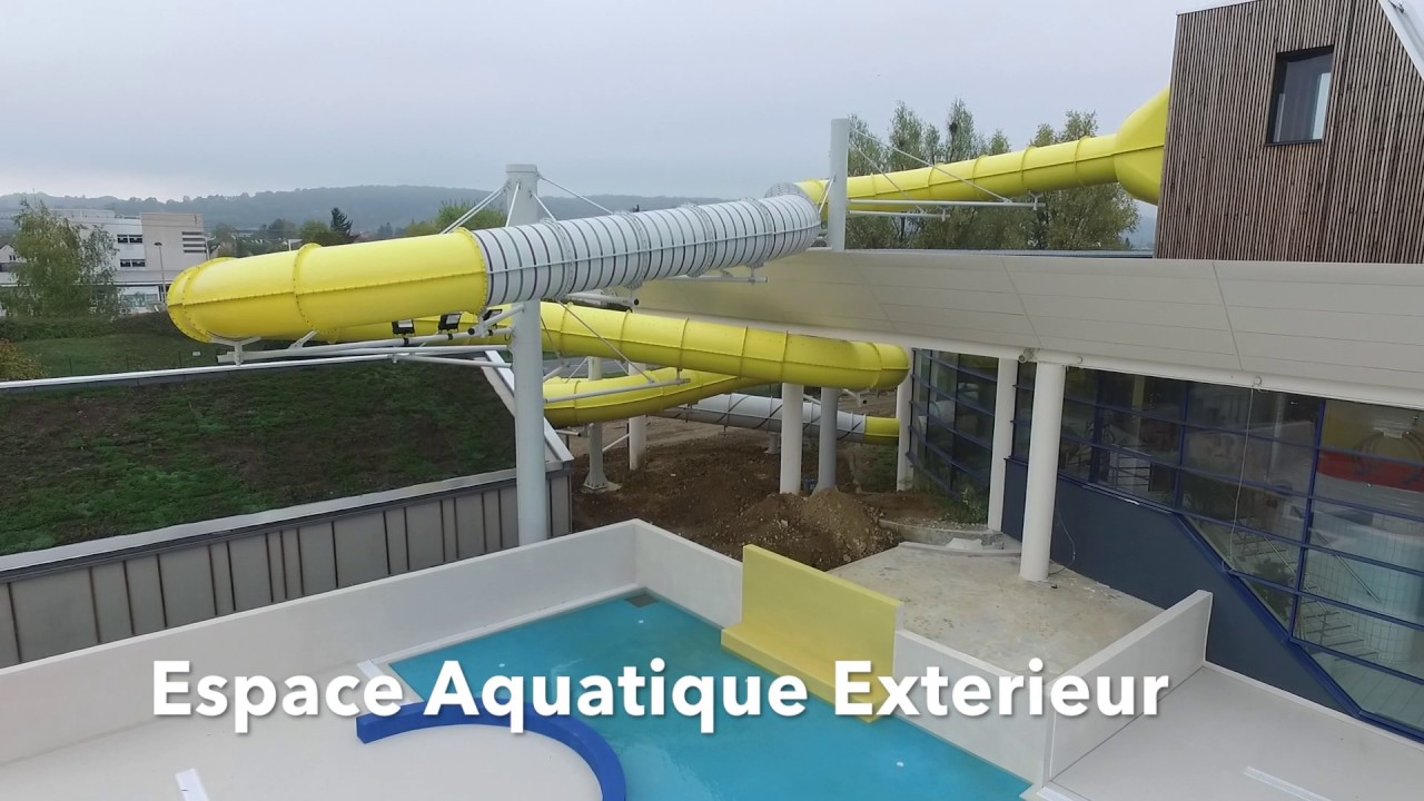 Centre aquatique aquaval gaillon youtube for Piscine aquaval