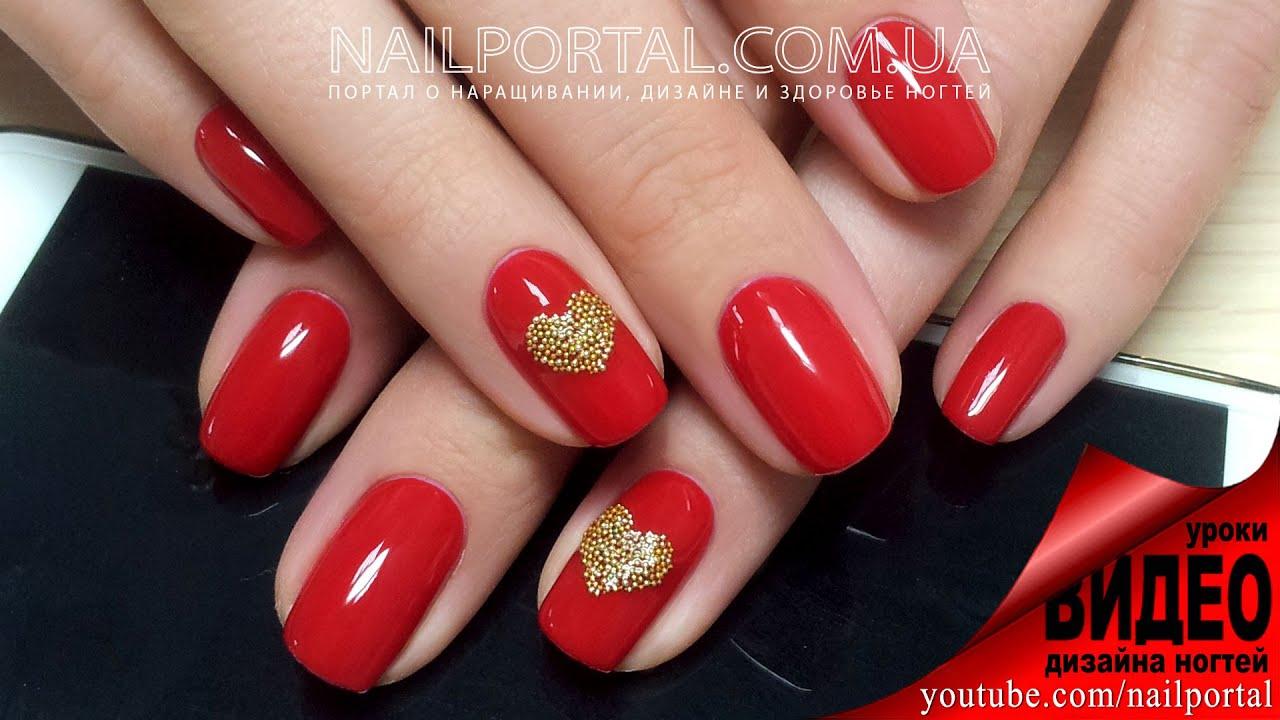 дизайн ногтей бульонками 2