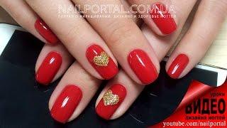 Дизайн ногтей гель-лак shellac - Дизайн бульонками (видео уроки дизайна ногтей)