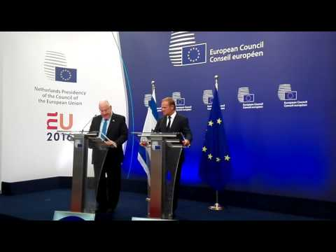 President of the State of Israel Reuven Rivlin at the European Council