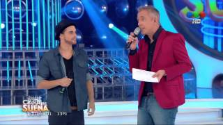 Augusto Schuster es Abel Pintos en Tu Cara me Suena 2014