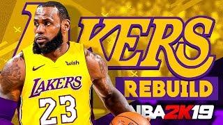 Lebron James Los Angeles LAKERS REBUILD! NBA 2K19