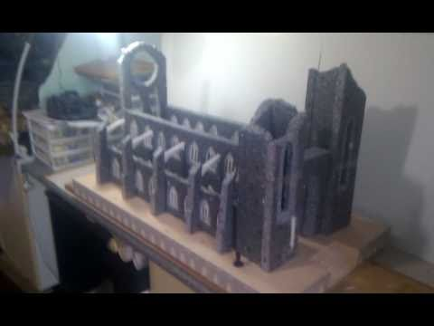Ruined Cathedral Project - 40k terrain / scenery - YouTube
