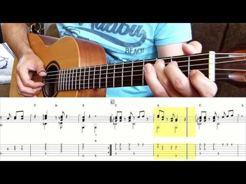 SUPER MARIO BROS. (Main Theme) GROUND BACKGROUND MUSIC For Fingerstyle Guitar + Tabs (Lesson)