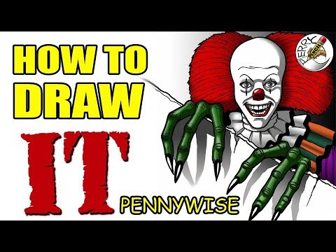 How to Draw Pennywise (IT 1990) TV Mini-Series step by step tutorial