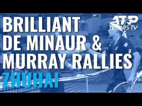 BRILLIANT Rallies From Alex De Minaur vs Andy Murray!   Zhuhai Championships 2019
