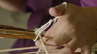 www.craftinamerica.org. Pomo basket weaver Corine Pearce binds a cr...