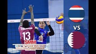 Thailand vs Qatar  Asian Mens  U20 Volleyball Championship 2018