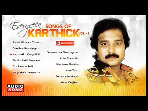 Evergreen Songs Of Karthik  Vol 2  Tamil Hit Songs  Audio Jukebox  Ilayaraja  Music Master