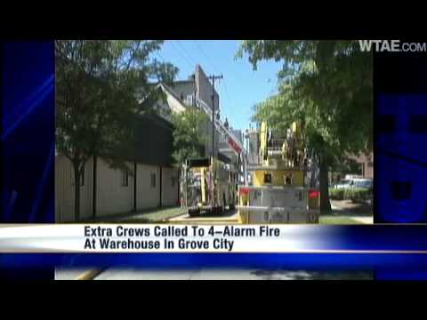 Fire Breaks Out At Grove City Warehouse