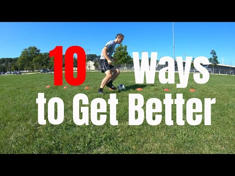 10 Ways to Improve Close Control Dribbling - The Best Straight Line Dribbling Cone Drills for Soccer