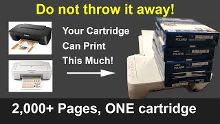 1 Trick Print 2 000 Pages with ONE Cartridge Canon Pixma MG2500 MG2525 MG2520 MG2550