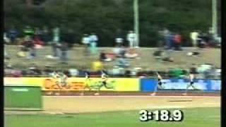 Seb Coe wins AAA 1500m in 1989
