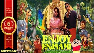 Enjoy Enjaami - Dhee ft. Arivu | Lyrics | Cartoon version