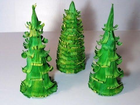 Corn Husk Christmas Tree ~ Featuring Miriam Joy