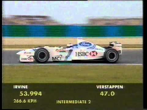 Jos Verstappen (Stewart SF02) qualifying run - 1998 French Grand Prix