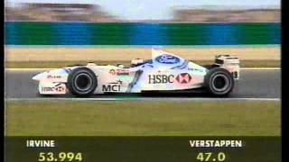 Jos Verstappen (Stewart SF02) qualifying run - 1998 French Grand Prix