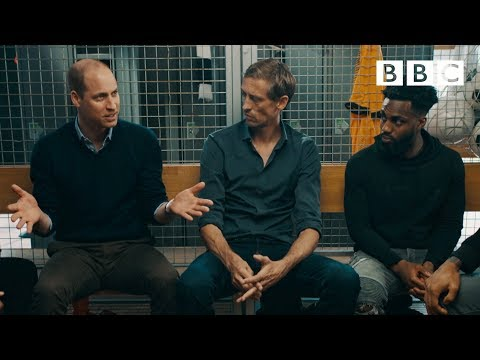 Premiership football stars and Prince William discuss mental health - BBC