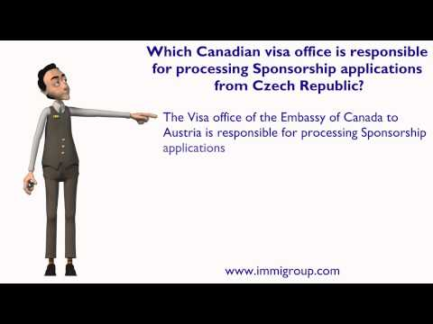 Which Canadian visa office responsible for processing Sponsorship applications from Czech Republic?