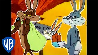 Looney Tunes | Wile E. Coyote Genius vs. Bugs Bunny | Classic Cartoon Compilation | WB Kids