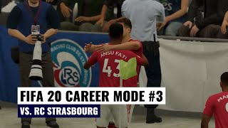 European International Cup Group Stage | vs. Strasbourg | FIFA 20 Manchester United Career Mode #3