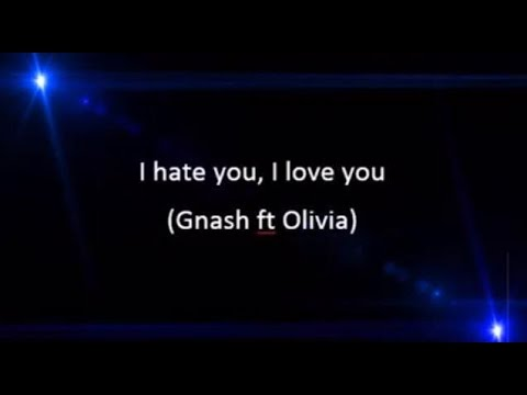 I hate you i love you lyrics song, by Gnash and Olivia.