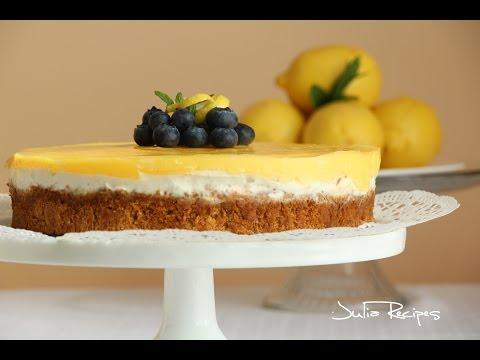 BEST Lemon Cheesecake with sour cream - JULIA RECIPES