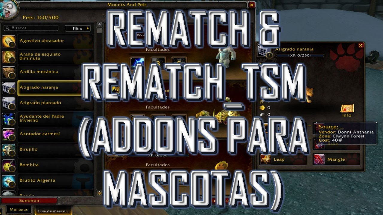 World of Warcraft|Addons |Rematch & Rematch_TSMPetvalues